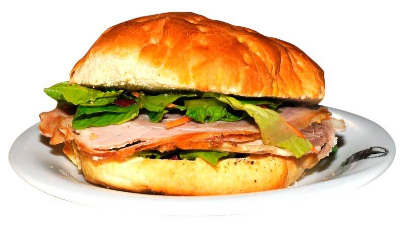 Sandwich con Porchetta d'Ariccia Trattoria Marcella Roma